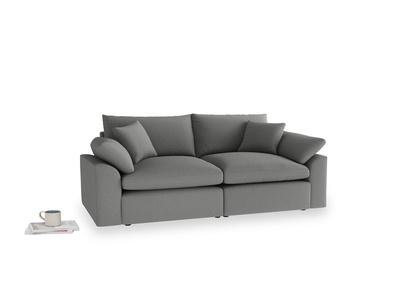 Medium Cuddlemuffin Modular sofa in French Grey brushed cotton