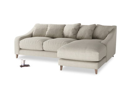 Large right hand Oscar Chaise Sofa in Thatch house fabric