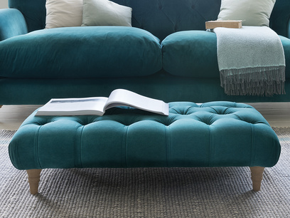 Comfty low buttoned footstool