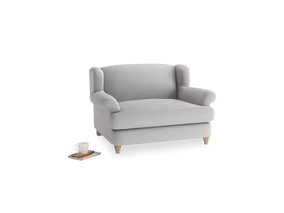 Moon Jumper Love Seat in Flint Brushed Cotton