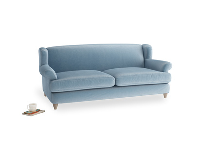 Large Moon Jumper Sofa in Chalky Blue Vintage Velvet