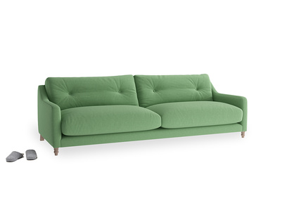Large Slim Jim Sofa in Clean green Brushed Cotton