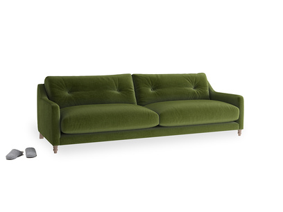 Large Slim Jim Sofa in Good green Clever Deep Velvet