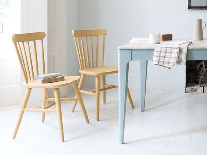 Natterbox wooden kitchen chair in Good Yellow