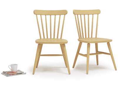 Natterbox wooden dining chair in Good Yellow