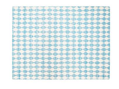 Large Waves In Blue rug