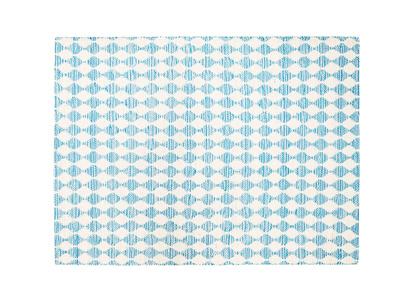 Medium Waves In Blue rug