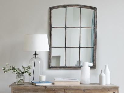 Kempton window pane mirror