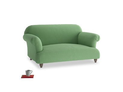 Small Soufflé Sofa in Clean green Brushed Cotton
