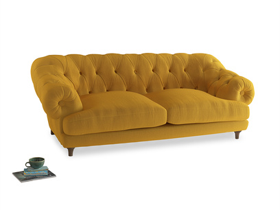 Large Bagsie Sofa in Pollen Clever Deep Velvet