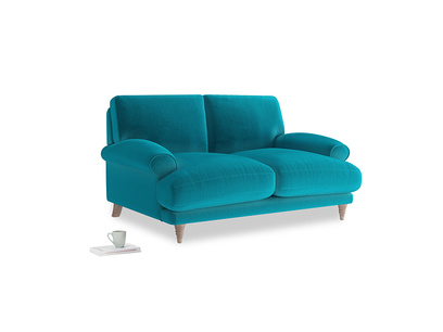 Small Slowcoach Sofa in Pacific Clever Velvet
