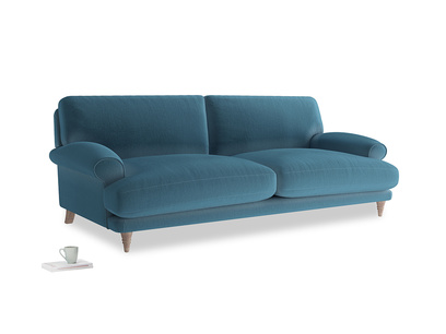 Large Slowcoach Sofa in Old blue Clever Deep Velvet
