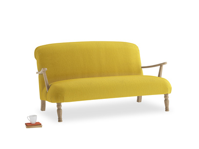 Medium Brew Sofa in Bumblebee clever velvet