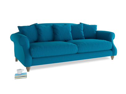 Large Sloucher Sofa in Bermuda Brushed Cotton