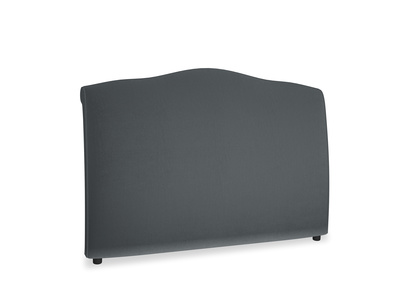 Kingsize Frenchie Headboard in Dark grey Clever Deep Velvet