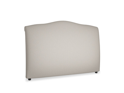 Superking Frenchie Headboard in Sailcloth grey Clever Woolly Fabric
