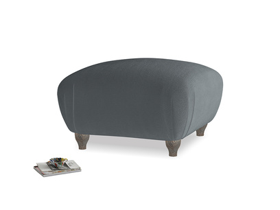 Square Homebody Footstool in Dark grey Clever Deep Velvet
