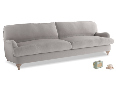 Extra large Jonesy Sofa in Mouse grey Clever Deep Velvet