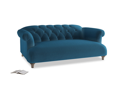 Medium Dixie Sofa in Twilight blue Clever Deep Velvet