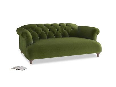 Medium Dixie Sofa in Good green Clever Deep Velvet