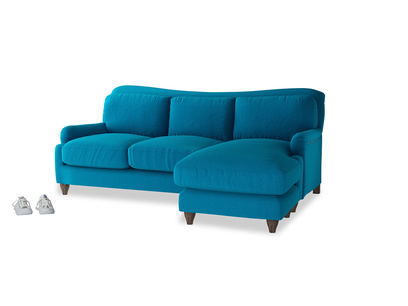Large right hand Pavlova Chaise Sofa in Bermuda Brushed Cotton