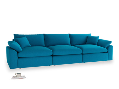 Large Cuddlemuffin Modular sofa in Bermuda Brushed Cotton