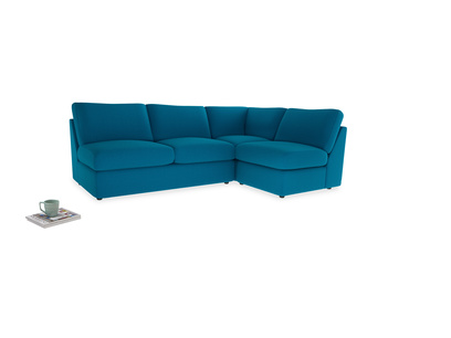 Large right hand Chatnap modular corner storage sofa in Bermuda Brushed Cotton