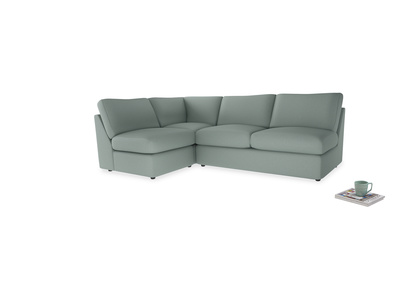 Large left hand Corner Chatnap modular corner storage sofa in Sea fog Clever Woolly Fabric