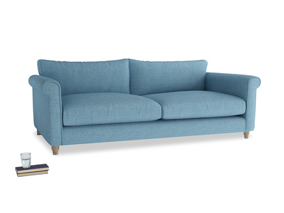 Extra large Weekender Sofa in Moroccan blue clever woolly fabric