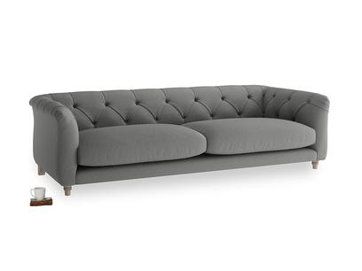 Large Boho Sofa in French Grey brushed cotton