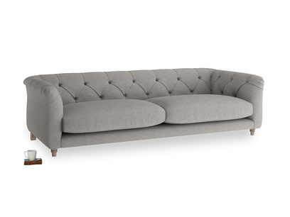Large Boho Sofa in Marl grey clever woolly fabric