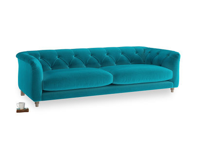 Large Boho Sofa in Pacific Clever Velvet