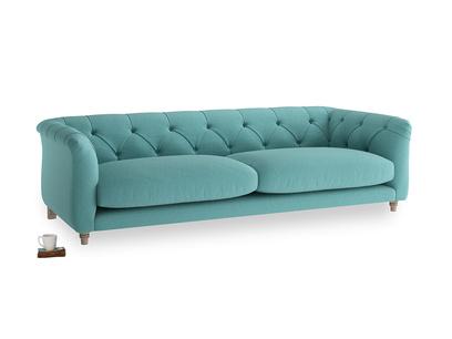 Large Boho Sofa in Peacock brushed cotton