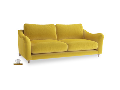 Large Bumpster Sofa in Bumblebee clever velvet