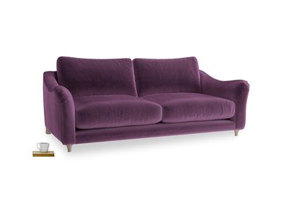 Large Bumpster Sofa in Grape clever velvet