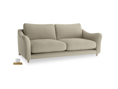 Large Bumpster Sofa in Jute vintage linen