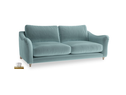 Large Bumpster Sofa in Lagoon clever velvet