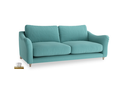 Large Bumpster Sofa in Peacock brushed cotton