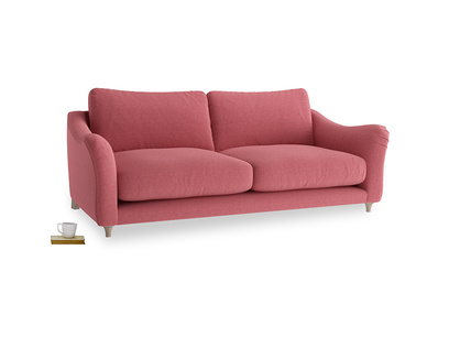 Large Bumpster Sofa in Raspberry brushed cotton