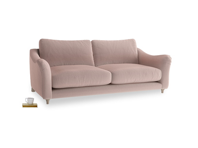 Large Bumpster Sofa in Rose quartz Clever Deep Velvet