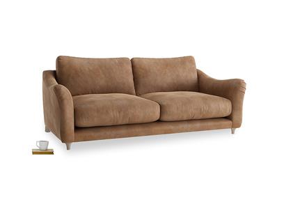 Large Bumpster Sofa in Walnut beaten leather