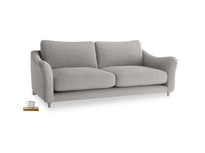 Large Bumpster Sofa in Wolf brushed cotton