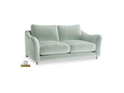 Medium Bumpster Sofa in Mint clever velvet