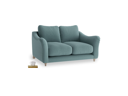 Small Bumpster Sofa in Marine washed cotton linen