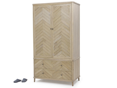 Super Flapper parquet wood wardrobe