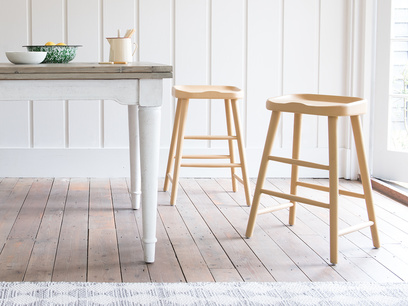 Bumble kitchen bar stool in Good Yellow