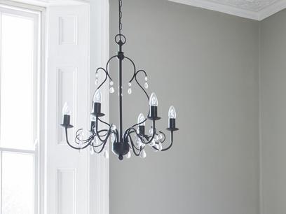 Jules black chandelier