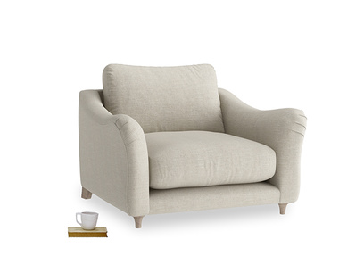 Bumpster curved arm modern armchair