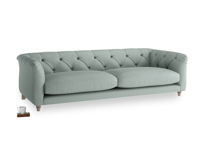 Large Boho Sofa in Sea fog Clever Woolly Fabric