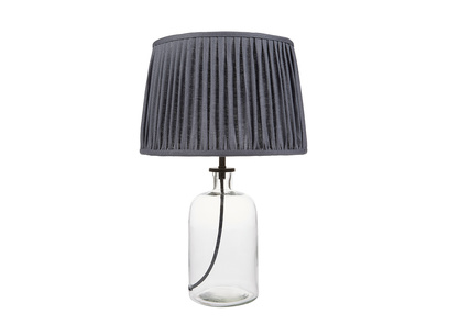 Small Apothecary Table Lamp with Graphite shade